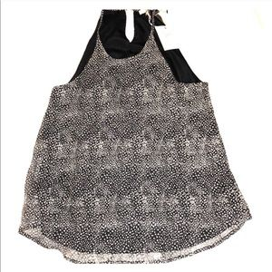 Joie black and white speckled tank top (Large)